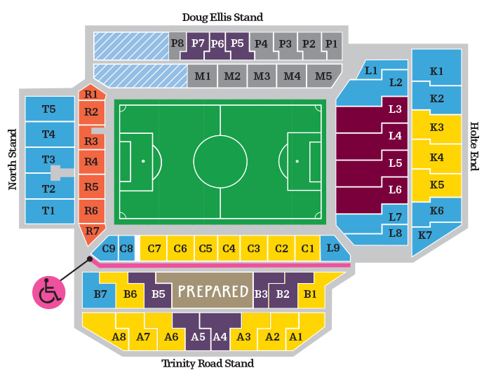 Holte End Seating Plan
